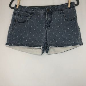 Cotton On Colour Distressed Flower Jean Shorts 6